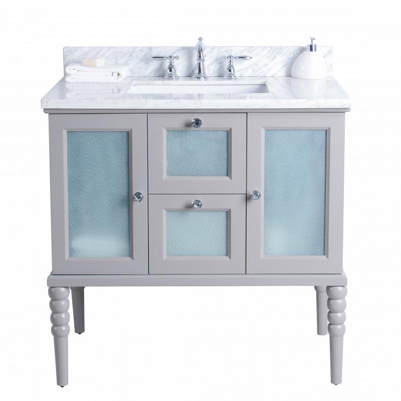"Grace Floor Mount 36"" Vanity – Freestanding Bathroom Vanities - Toronto,  Canada | Virta Luxury Bathroom Furniture"