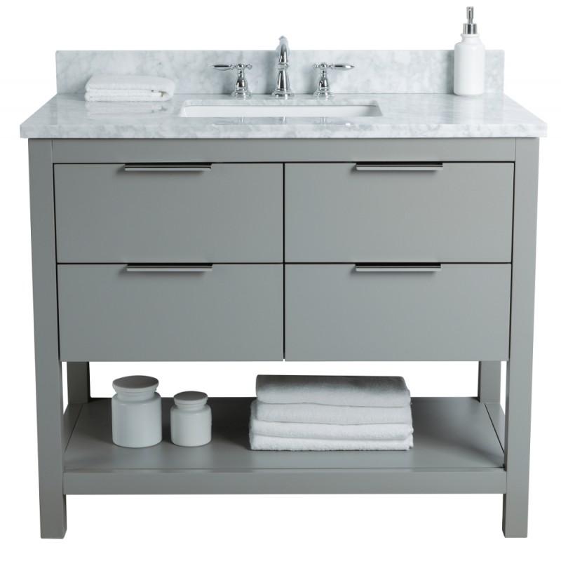 "Rta Kitchen Cabinets Toronto: Breeze Floor Mount 42"" Single Sink Vanity"