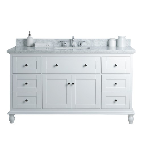 "Yasmine Floor Mount 60"" Single Sink Vanity"