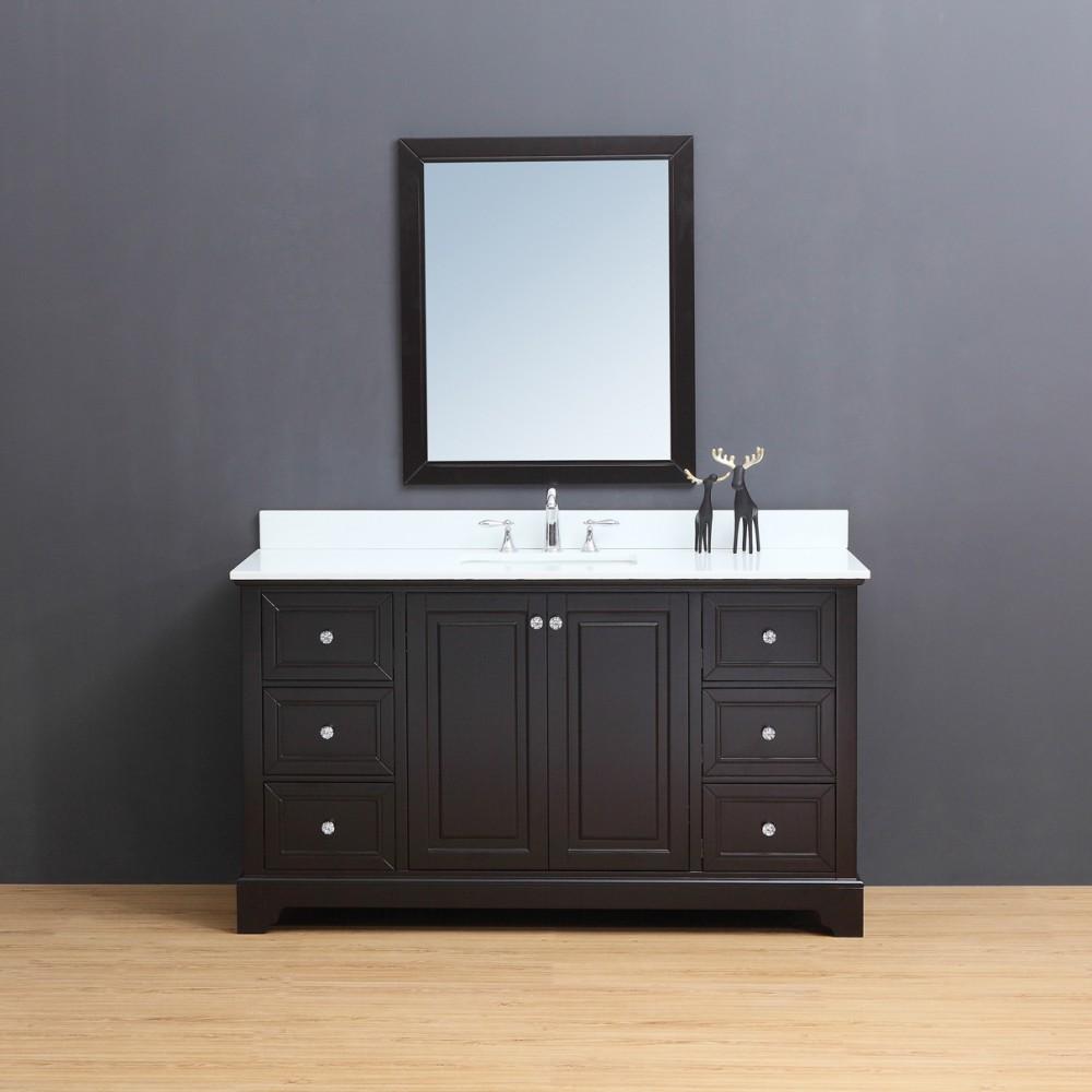 """Rta Kitchen Cabinets Toronto: Dalia Floor Mount 60"""" Single Sink Vanity"""