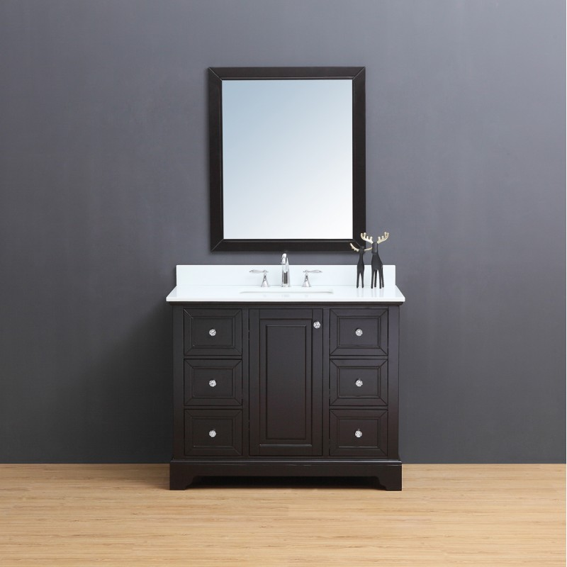 "Dalia Floor Mount 42"" Vanity – Freestanding Bathroom Vanities - Toronto,  Canada | Virta Luxury Bathroom Furniture"