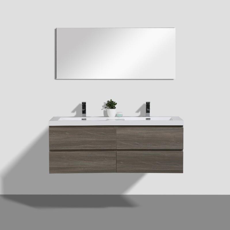 Angela Wall Hung 55 Vanity Wall Mounted Bathroom