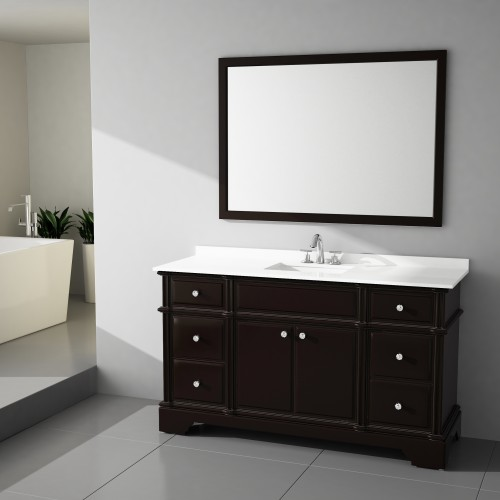 Charm Floor Mount 60'' Single Sink Vanity