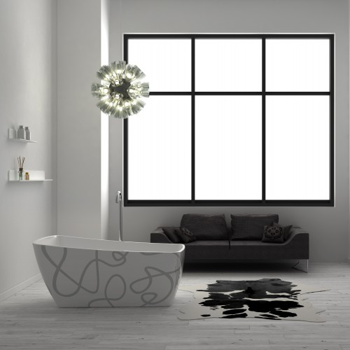 "Casablanca Art Freestanding Acrylic 63"" Tub"
