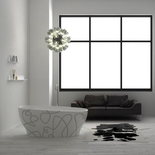 """Florence Art Freestanding Acrylic 63"""" Tub"""