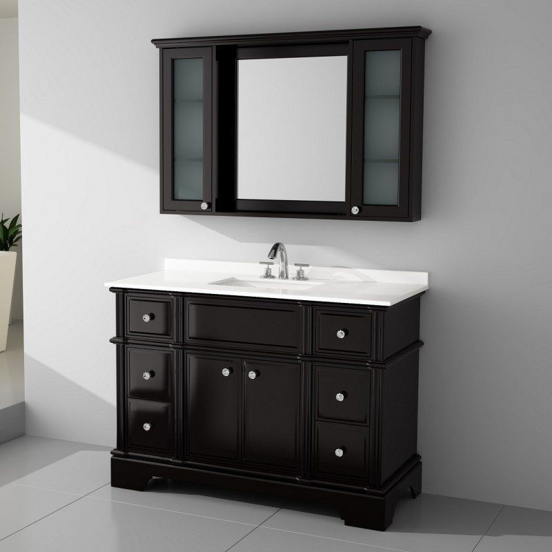 Charm Floor Mount 48 Vanity Freestanding Bathroom