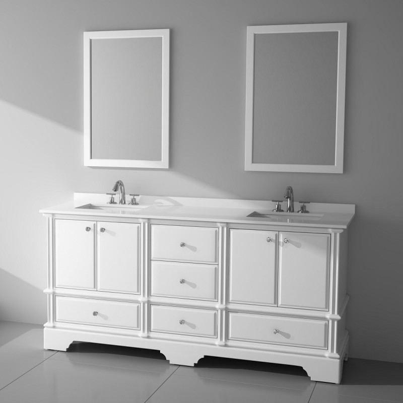 "Charm Floor Mount 72"" Vanity – Freestanding Bathroom Vanities - Toronto,  Canada 