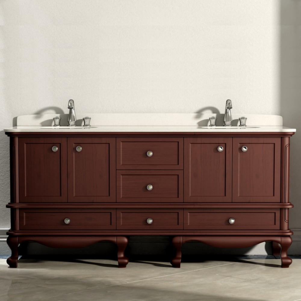 Madera Floor Mount 72 Double Sink Vanity Freestanding