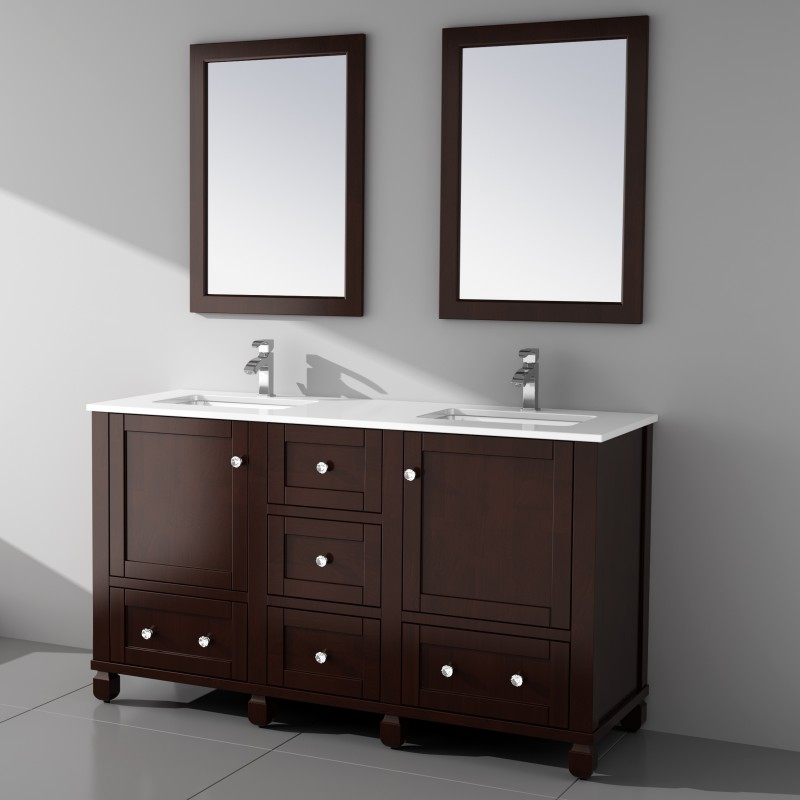 "Hampton Floor Mount 60"" Vanity – Freestanding Bathroom Vanities - Toronto,  Canada 