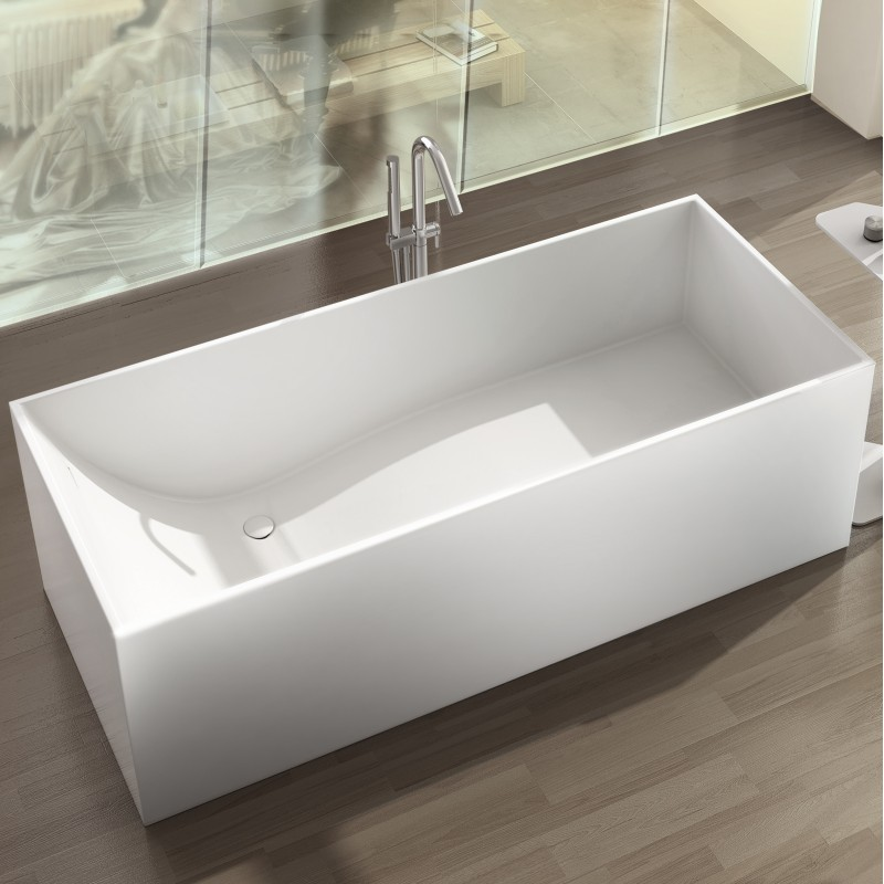"Cantata Freestanding Solid Surface Stone 67"" Tub - Bathtubs ..."