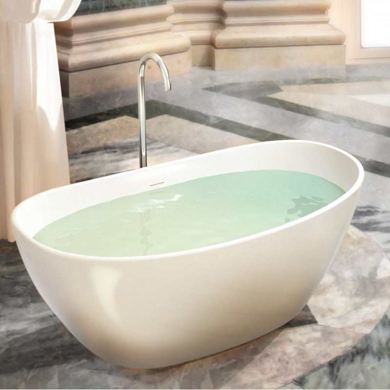 "Alegro Freestanding Solid Surface Stone 64"" Tub - Bathtubs - Toronto ..."
