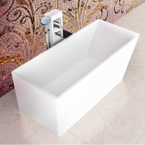 """Andante Freestanding Solid Surface Stone 67"""" Tub"""
