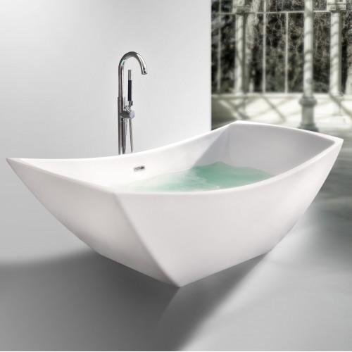 "Viola Freestanding Solid Surface Stone 67"" Tub"