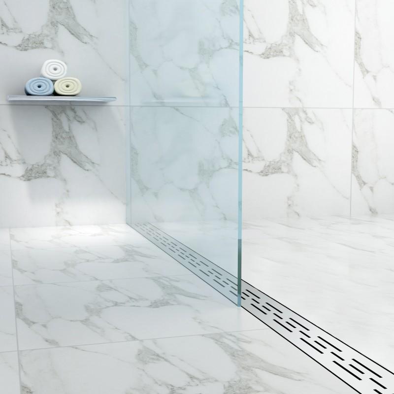 Virta Linear Drain Stainless Steel H Linear Shower Drains - Linear bathroom drains