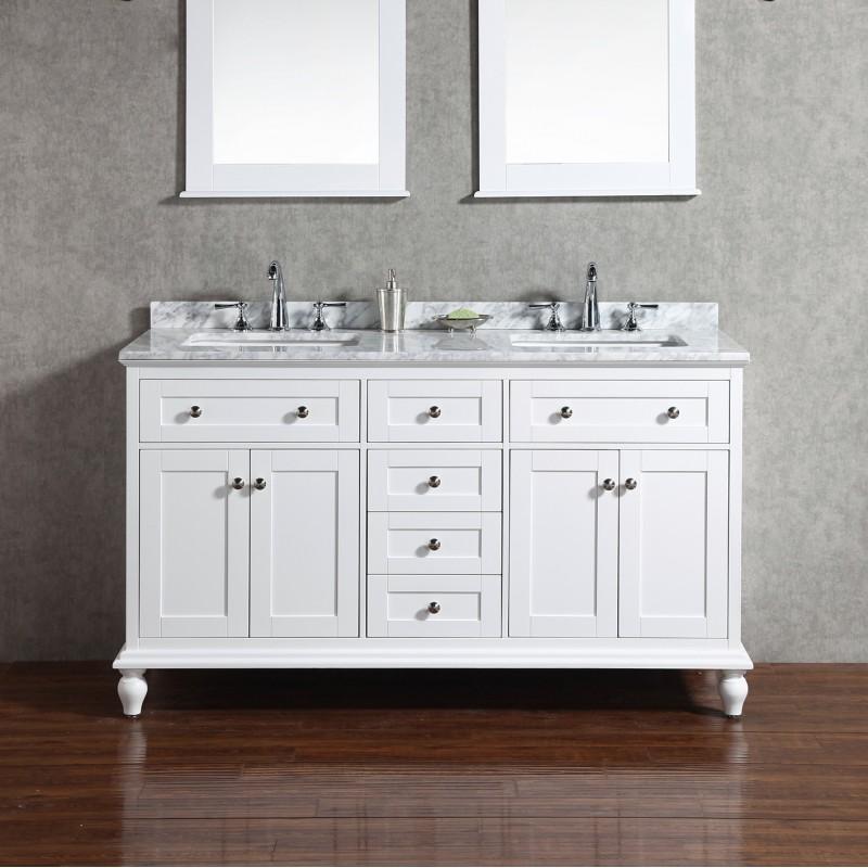 Yasmine Floor Mount 60 Double Sink Vanity Freestanding
