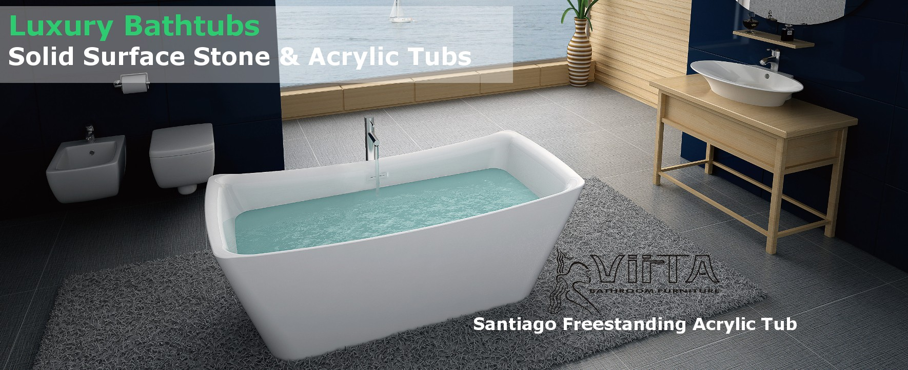 Solid Surface and Acrylic Bathtubs