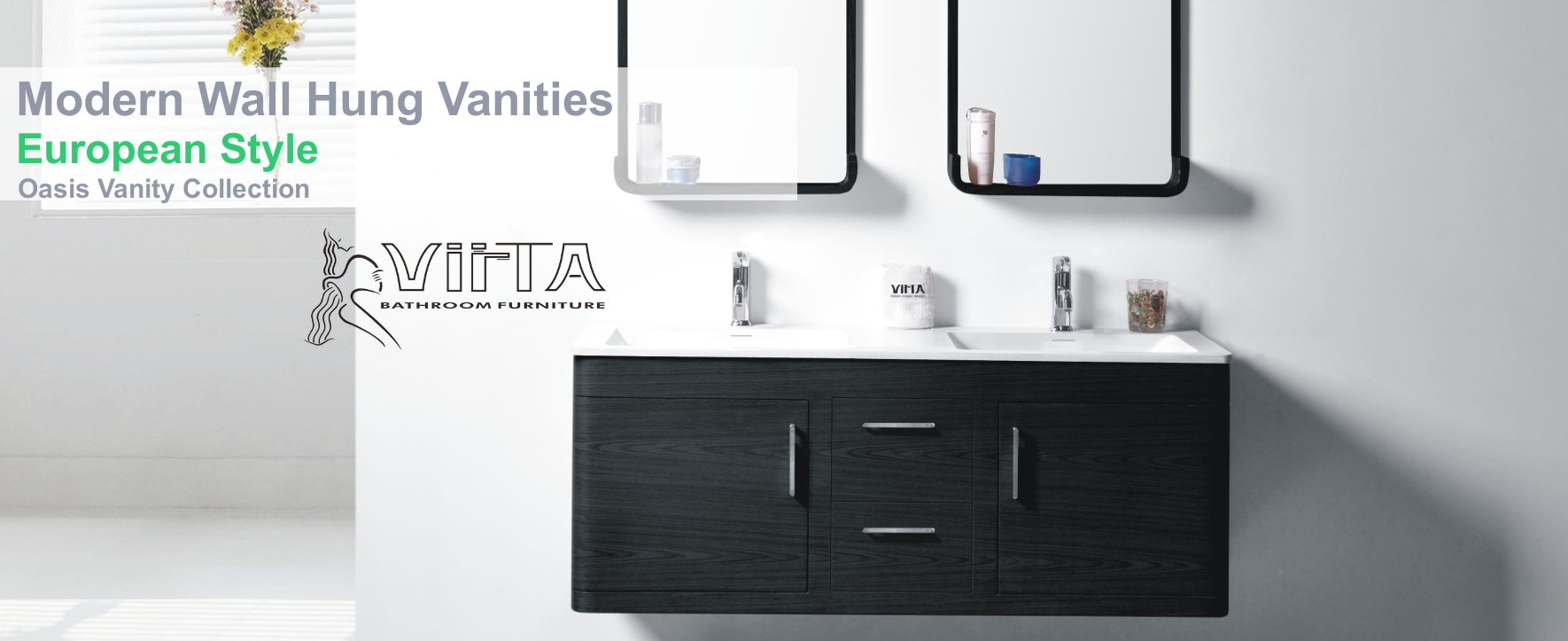 Modern Wall Hung Vanities by Virta