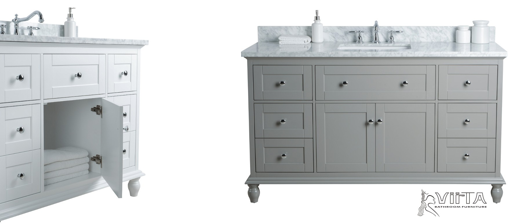 "Single Sink Vanities in 42"" and 60"""