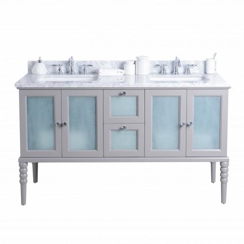 """Grace Floor Mount 60"""" Double Sink Vanity"""