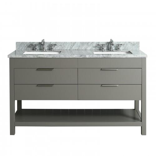 """Breeze Floor Mount 60"""" Double Sink Vanity"""