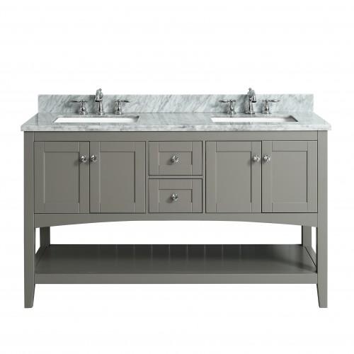 """Sirena Floor Mount 60"""" Double Sink Vanity"""