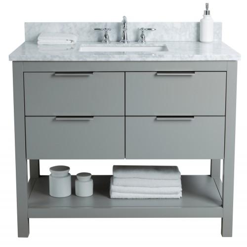 """Breeze Floor Mount 42"""" Single Sink Vanity"""