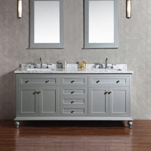 """Yasmine Floor Mount 72"""" Double Sink Vanity"""