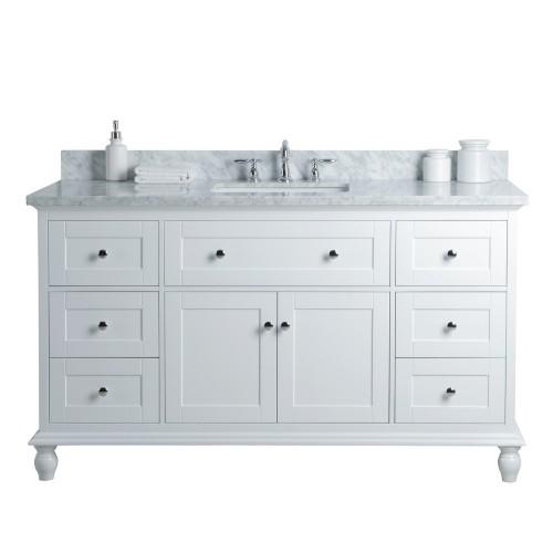 "Yasmine Floor Mount 60"" Single Sink Vanity"