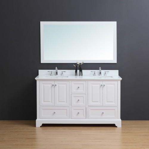 """Dalia Floor Mount 60"""" Double Sink Vanity"""