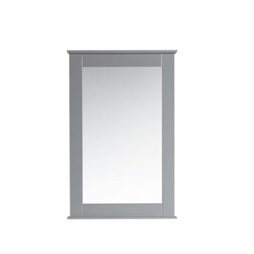 "Virta 24"" Solid Wood Bathroom Mirror with Decorative Molding"