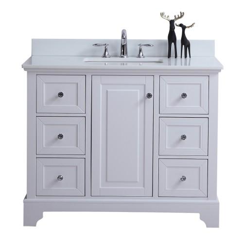 "Dalia Floor Mount 42"" Single Sink Vanity"