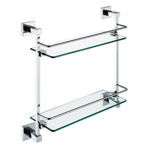 Zenith Double Glass Shelf