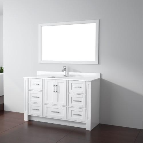 """Flow Floor Mount 54"""" Single Sink Vanity"""