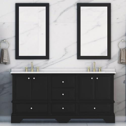 Charm Floor Mount 72'' Double Sink Vanity
