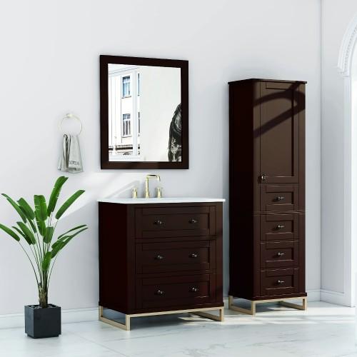 """Hampton Floor Mount 30"""" Single Sink Vanity"""