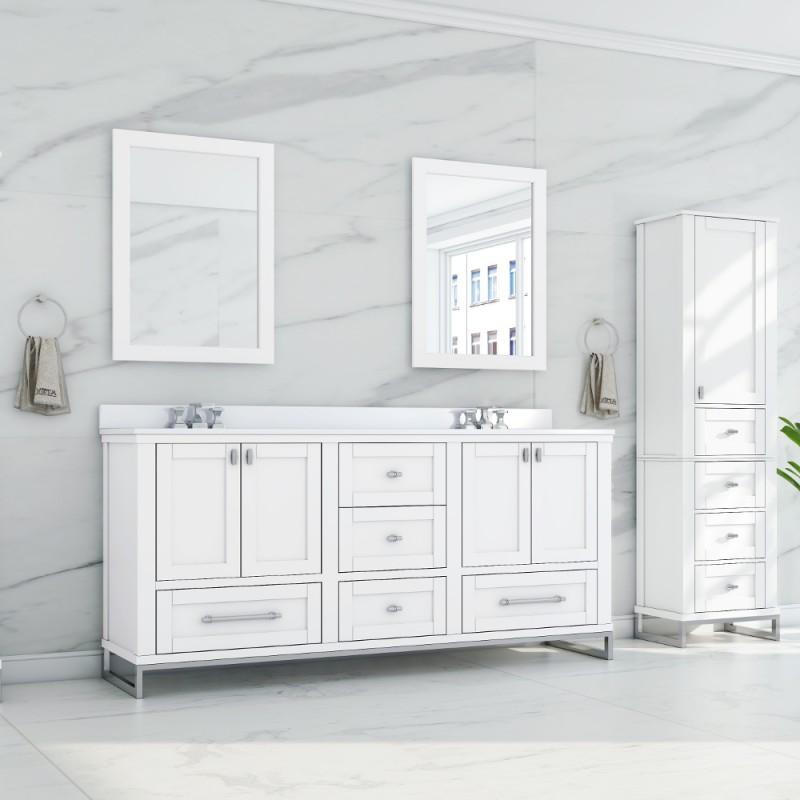 """Hampton Floor Mount 72"""" Double Sink Vanity"""