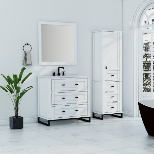 """Hampton Floor Mount 36"""" Single Sink Vanity"""