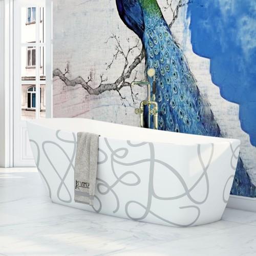 "Casablanca Art Freestanding Acrylic 63"" Tub"