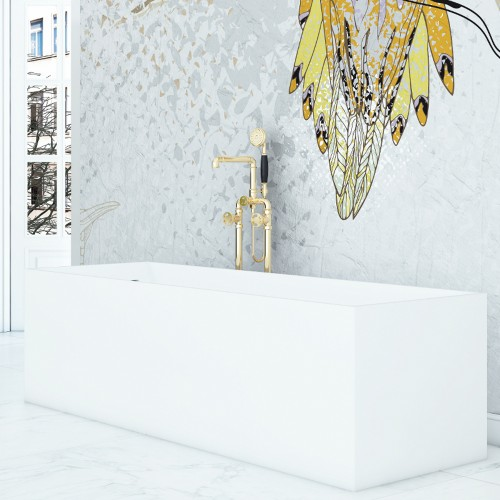 """Cantata Freestanding Solid Surface Stone 67"""" Tub"""