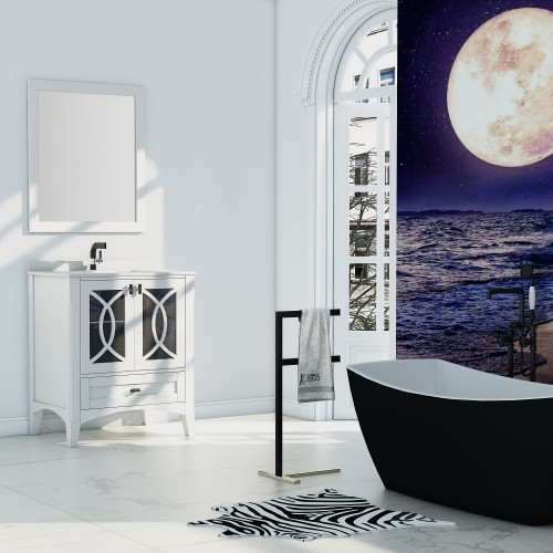 "Romance Floor Mount 30"" Single Sink Vanity"