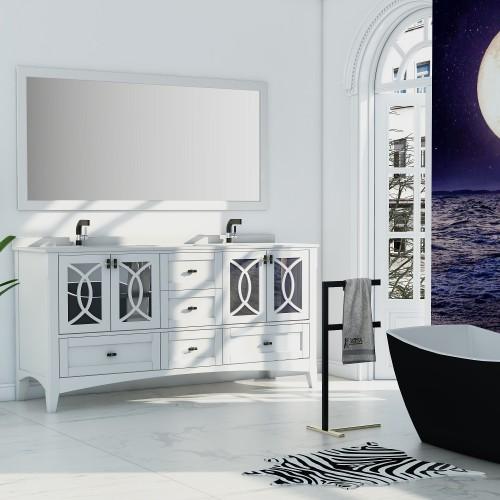 """Romance Floor Mount 72"""" Double Sink Vanity"""
