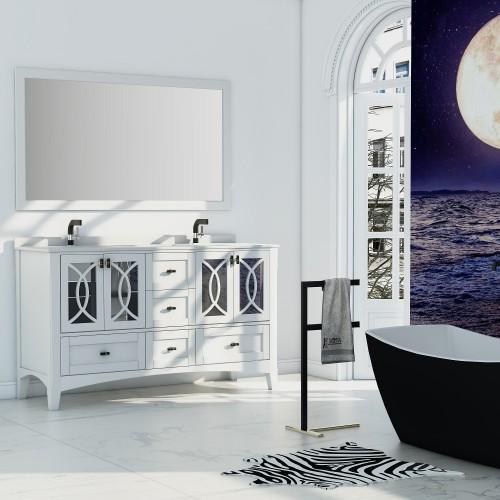 """Romance Floor Mount 60"""" Double Sink Vanity"""