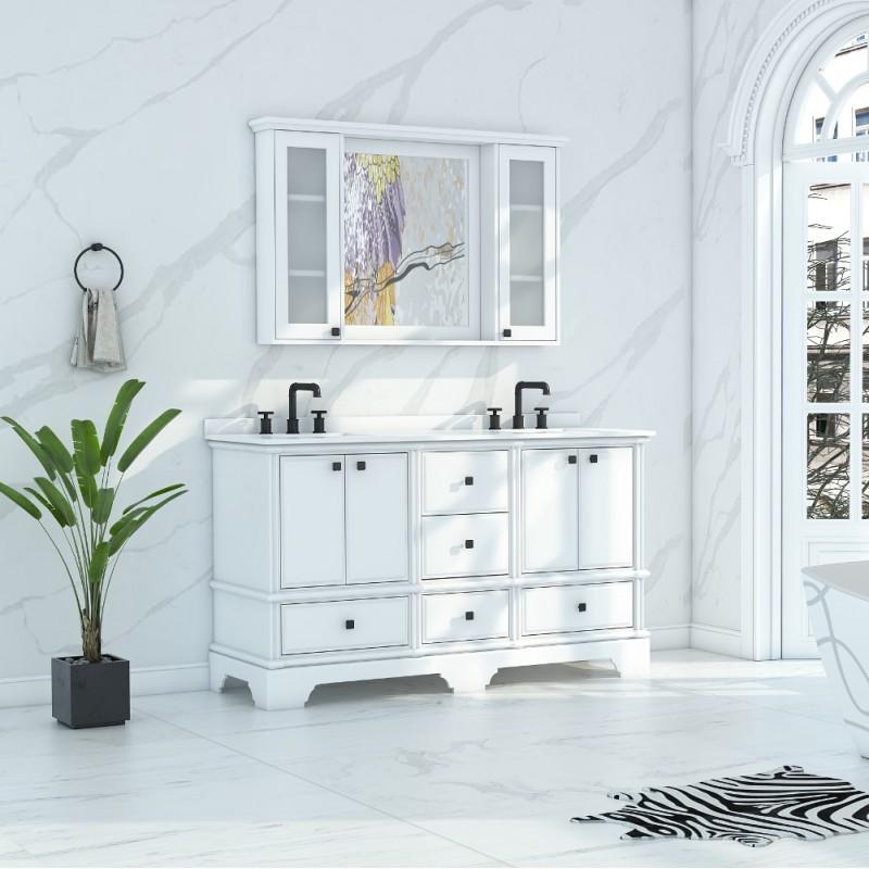 Charm Floor Mount 60'' Double Sink Vanity