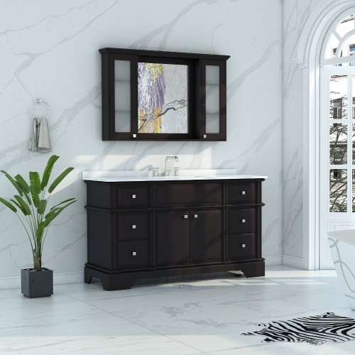 Charm Floor Mount 60'' Single Sink Vanity