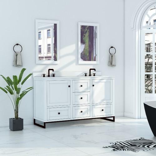 """Hampton Floor Mount 60"""" Double Sink Vanity"""