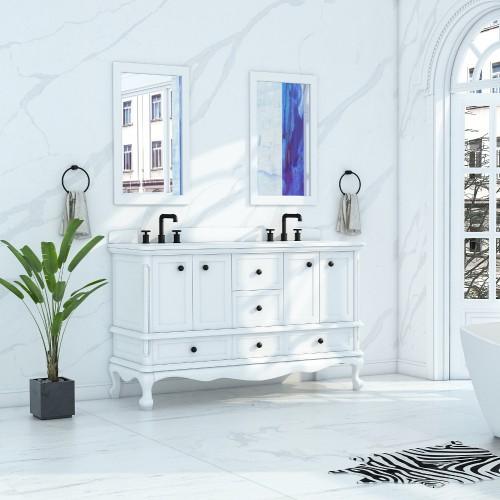 """Madera Floor Mount 60"""" Double Sink Vanity"""