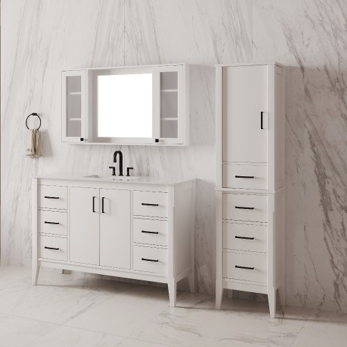 "Essence Floor Mount 48"" Single Sink Vanity"