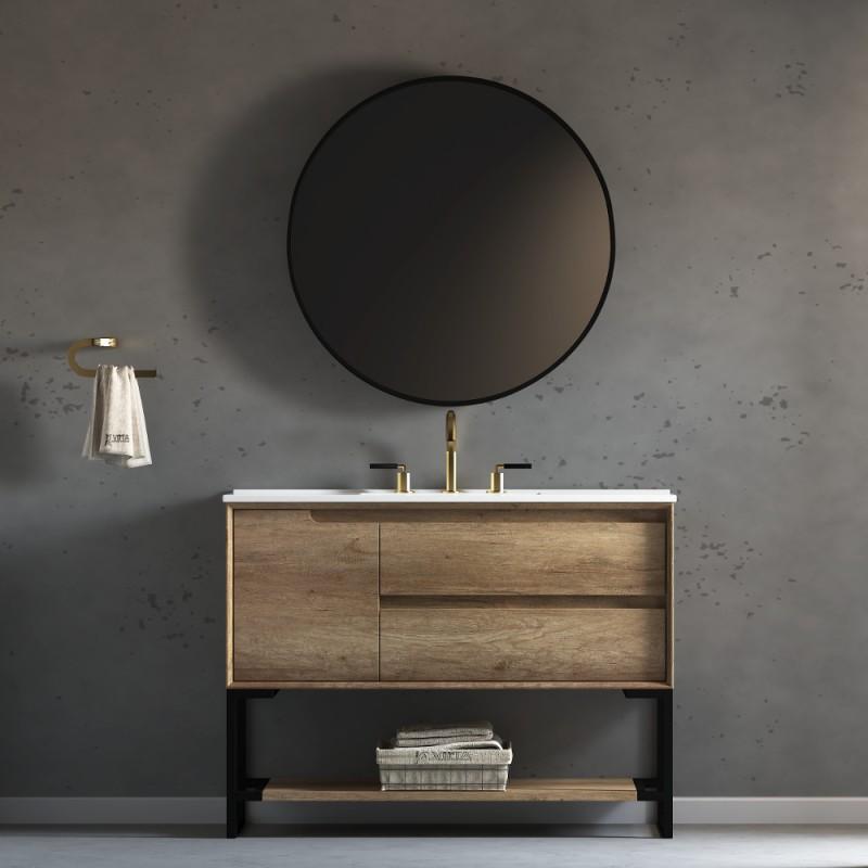 "Ashley Floor Mount 48"" Single Sink Vanity"
