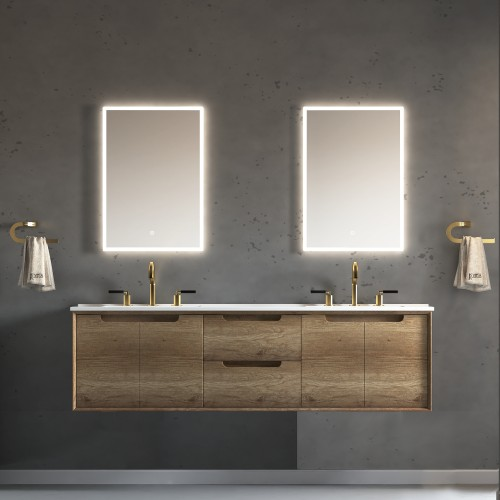 "Ashley Wall Hung 72"" Double Sink Vanity"