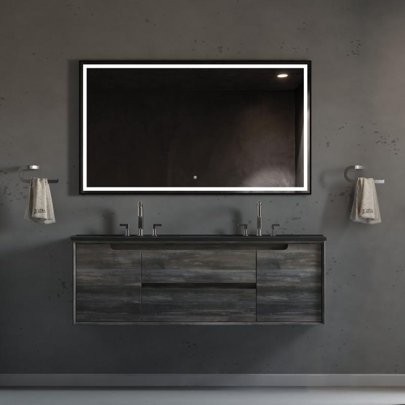 "Ashley Wall Hung 60"" Double Sink Vanity"